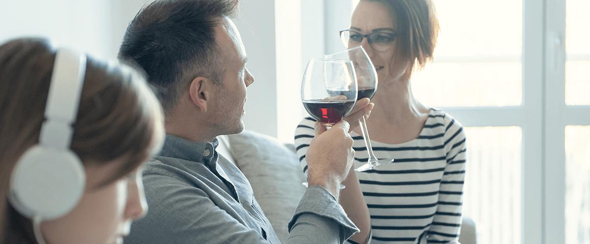 Picie alkoholu przy dzieciach